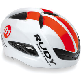 Rudy Project Boost 01 Cykelhjelm, white-red fluo (shiny)